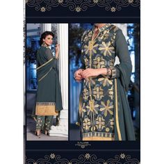 Eid Special Designer Grey Embroidered Plazzo Salwaar Suit-6908( OFB-301)Karishma