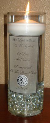 Our DIY Memorial Candle | Weddings, Style and Decor | Wedding Forums | WeddingWire