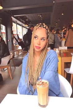 This hair colour . can find Long braids and more on our website. Blonde Braids, Hair Shop, Hair Color, Hair Styles, People, Beauty, Beautiful, Shopping, Instagram