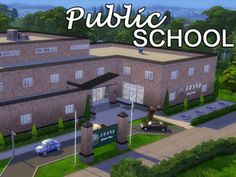 A typical Public School found in a suburb or small town. Found in TSR Category 'Sims 4 Community Lots' My Sims, Sims Cc, The Sims 4 Lots, School Places, Sims 4 Cc Packs, Sims 4 Cc Furniture, Sims 4 Houses, Sims Community, Sims Resource