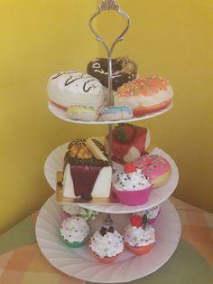 Alzatina con finti cupcake