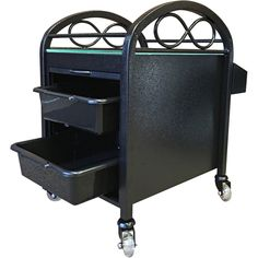 Pedicure Accessory Trolley - Complement your Continuum products with our versatile, 'infinity branded' pedicure trolley. Constructed with an all steel frame and a tempered glass top, it is the most durable and functional pedicure cart available.   A