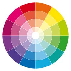 12-hour RGB/CMYK color wheel with tones and tints.