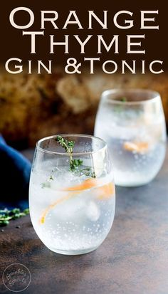 Sweet orange and floral thyme, give this Gin and Tonic a beautiful fruity freshness. Perfect for a September night. Try this with a Plymouth gin to accentuate the slight sweetness and earthy flavour. Recipe from Sprinkles and Sprouts | Delicious food for