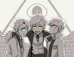 △ Gravity Falls- Reverse Falls △ Bill Cipher, Will Cipher, and Dipper