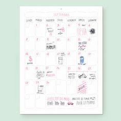 Wall Memo Calendar, calendrier perpétuel et ludique pour toute la famille, édition Moulin Flèche