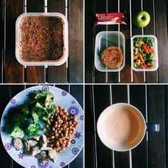 Just a #fooddiary becuz everyone loves food 🐷  Breakfast: Chocolate Overnight Proats Lunch: Veggie Burger and Mixed Veg Dinner: Chicken, Chickpeas, Broccoli and Avo 😁  @nutritechfit @mccain_sa @wellnesswarehouse @questsa @questnutrition @quorn_uk