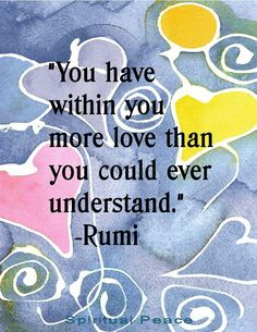#Rumi #Quotes & #Spiritual #Affirmations from Awakening-Intuition.com - Click above Link to view a Collection of #Wisdom #Positive #Love #Life #Motivational #Sayings & #lifequotes to #Inspire