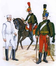 "THE AUSTRIAN ARMY "". the Austrian army . carried most of the burden of the war on land. Military Art, Military History, Austrian Empire, Army Uniform, Military Uniforms, German Uniforms, Austro Hungarian, Arm Armor, Napoleonic Wars"
