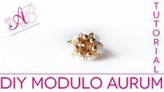 DIY Tutorial Modulo Aurum per orecchini e anello con perline