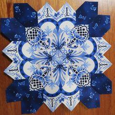 Paper Pieced Quilt Patterns, Quilt Block Patterns, Quilt Blocks, Millefiori Quilts, Kaleidoscope Quilt, Bright Quilts, Cross Quilt, Paper Quilt, Hexagon Quilt