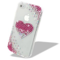 nice Swarovski iPhone 4 Case | NOVA CASE Chic Series 3D Bling Crystal iPhone Case for AT&T Verizon T-Mobile Sprint Apple iPhone 4/4S - Pink Faded heart Kawaii Phone Case, Girl Phone Cases, Bling Phone Cases, Cell Phone Covers, Diy Phone Case, Cute Phone Cases, Iphone 4, Apple Iphone, Iphone Cases