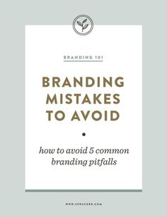 Marketing Strategy Discover Branding Mistakes to Avoid Spruce Rd. Branding Mistakes to Avoid Web Design, Design Jobs, Website Design, Graphic Design, Brand Design, Logo Design Tips, Brochure Design, Graphic Art, Inbound Marketing