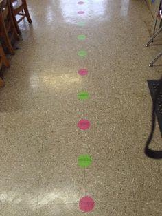 Pink Polka Dots & Pre-K: Line Up Procedures