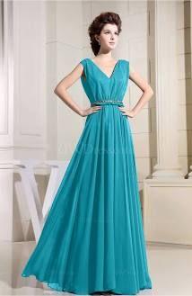 Teal Vintage Prom Dress Modest Antique Floor Length Fashion Elegant