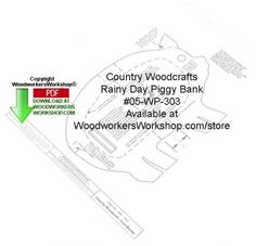05-WP-303 - Rainy Day Piggy Bank Woodcraft Pattern Downloadable PDF