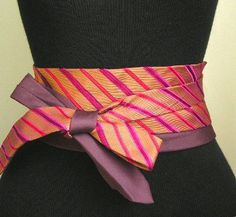 Obi belt made of mens ties! Awesome!