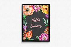 Hello Summer, A3, Posters, Etsy, Poster, Billboard