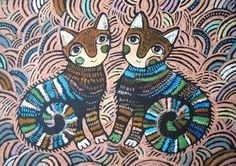 akasi | пастель Colored Pencil Artwork, Colored Pencils, Love Pet, Learn To Draw, Business Card Design, Cat Art, Art For Kids, Folk Art, Fairy Tales