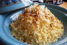 Couscous is one of those foods that is automatically associated with Morocco in most people's minds. It is, in fact, consumed widely all across North Africa. Most interestingly, Egyptians eat cousc. Sweet Recipes, Vegan Recipes, Delicious Recipes, Egyptian Food, Couscous Recipes, Good Food, Yummy Food, Thinking Day, Healthy Food Choices