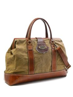 Nothing says adventure quite like the Sandast - Stefan Canvas Bag!   Find more travel ideas at www.greenglobaltravel.com