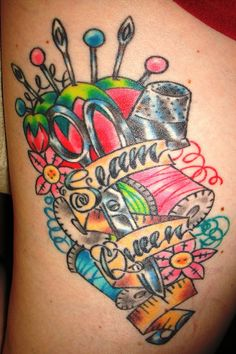 Seam Queen! On my leg, by Stacey Martin  www.shamanmodifications.com/