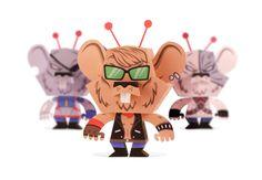 Biker Mice From Mars Papercraft