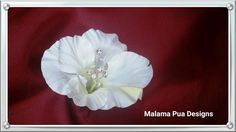 "HIBISCUS BRIDAL HAIR Clip - ""Real Touch"" Ivory White Flower, Tropical, Headpiece, Silk Flowers, Hawaiian, Crystal Centers, Beach Wedding by MalamaPua on Etsy"