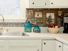 DIY Network has instructions for making an easy renter-friendly backsplash project.