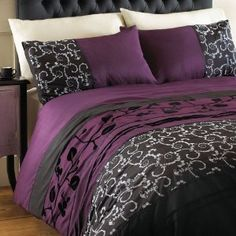 purple and gray bedding sets - Google Search
