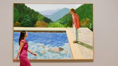 "Das Bild ""Portrait of an Artist / Pool with Two Figures"" in der großen David-Hockney-Retrospektive der Tate Britain in London aus Anlass des 80. Geburtstages des Künstlers (imago/ZUMA Press)"