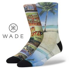 Stance | Ocean Drive Tan, Aqua, Blue, Red socks | Buy at the Official website Main Website.