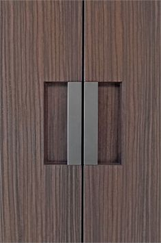 Min Line door pull by FTF Design Studio, perfectly flush and simply beautiful.