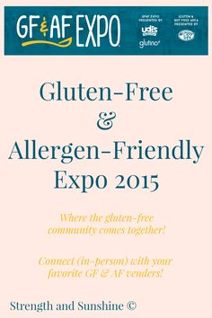 Connecting the celiac and food allergic community. The GFAF Expo is the chance to connect with manufacturers, educators, services, and the community!