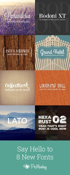 We've got 8 new fonts for your designing pleasure. Come on over to our blog and get introduced.
