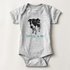 #funny - #Don't Call Me Tiny Cute Jack Russell for Baby Baby Bodysuit