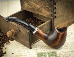"""Pipa que fuma """"aro de la silla de montar"""". Pipa de madera tallada. Pipas de…"""