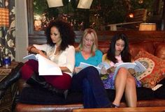 Sherri Saum, Teri Polo and Cierra Ramirez on the set of The Fosters!! We can't wait for January!! Ahhhh!!! #TheFosters
