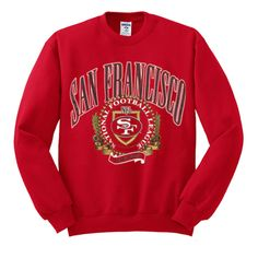 san francisco national football league sweatshirt from teeshope.com This sweatshirt is Made To Order, one by one printed so we can control the quality.