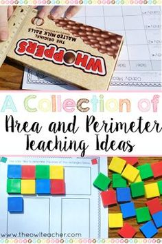 This blog post has a plethora of ideas on teaching area and perimeter to your elementary students. Check out all these ideas and walk away with some freebies!