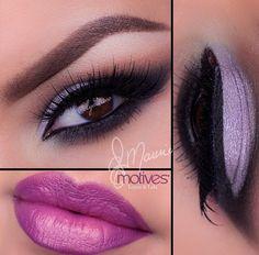 Makeup eyes lips brown eyes
