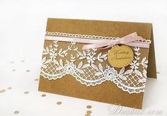 Items similar to Craft and Lace Rustic wedding invitation, Craft Paper invitation, Rustic Wedding invites, Country Style Wedding Invitation on Etsy Wedding Invitation Paper, Rustic Wedding, Paper Crafts, Create, Unique Jewelry, Lace, Handmade Gifts, Etsy, Style