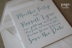 Martha and Russell Save the Date Cards