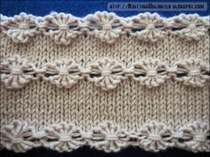 Flowers in a Row   |  knittingunlimited.blogspot.com