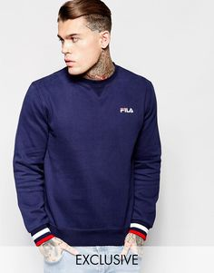 Image 1 ofFila Black Sweatshirt With Small logo