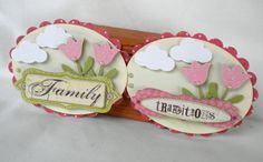 Sweet Vintage Inspired Tags- Family Traditions - Sparkle Flowers