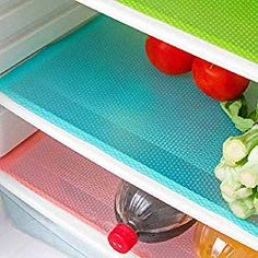 seaped 5 Pcs Refrigerator Mats,EVA Refrigerator Liners Washable Can Be Cut Refrigerator Pads Fridge Mats Drawer Table Placemats,Shelves Drawer Table Mats,Size