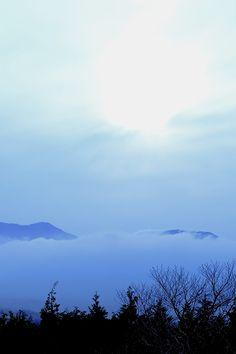 ドライブ中に出会った雲海