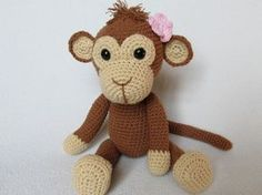 Sweet Monkey Julie  amigurumi by DioneDesign