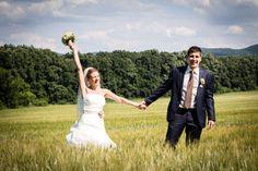 wedding portrait, bride and groom